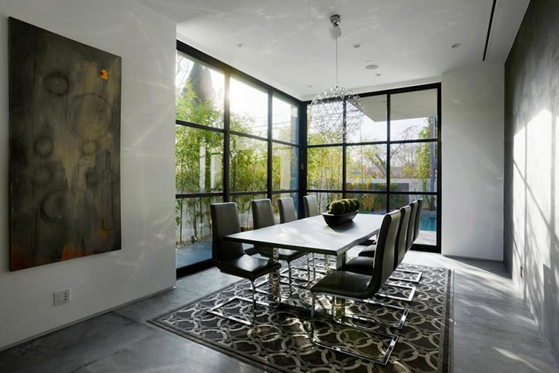 21 Dining Rooms With Beautiful Concrete Floors-14