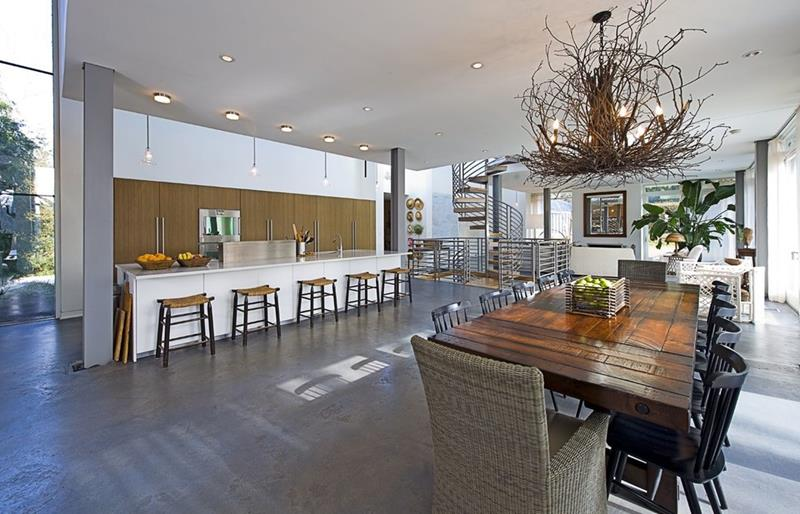 21 Dining Rooms With Beautiful Concrete Floors-15
