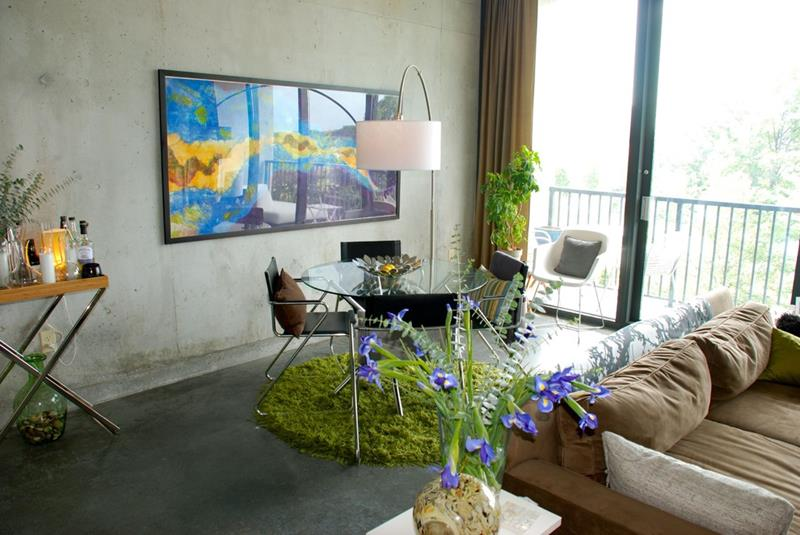21 Dining Rooms With Beautiful Concrete Floors-18