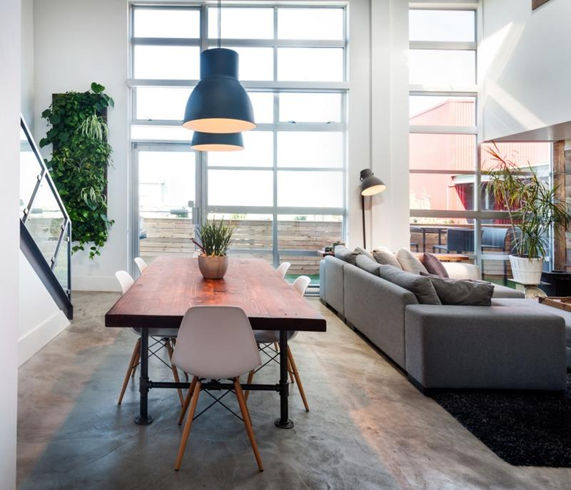 21 Dining Rooms With Beautiful Concrete Floors-20