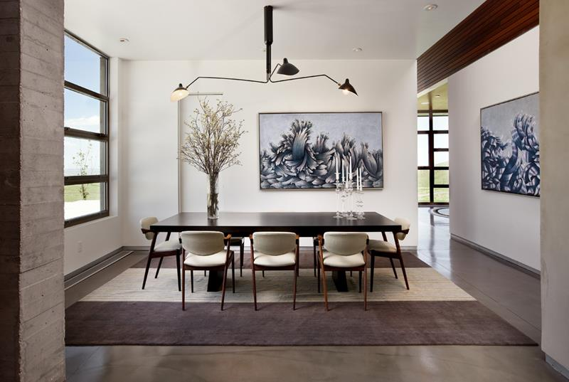 21 Dining Rooms With Beautiful Concrete Floors-4