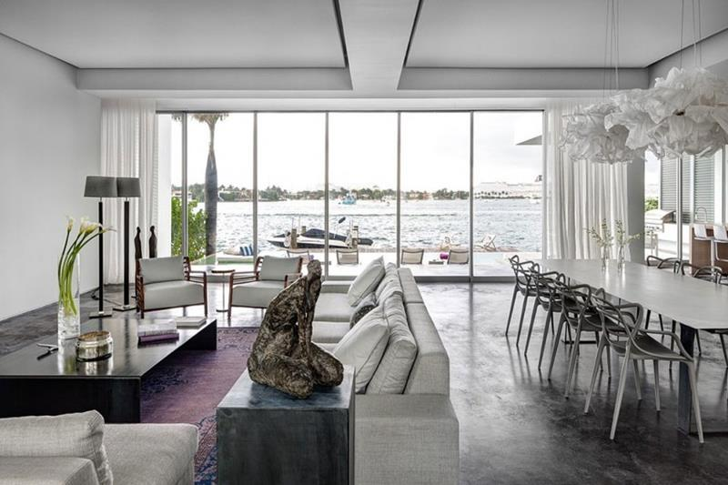 21 Dining Rooms With Beautiful Concrete Floors-8