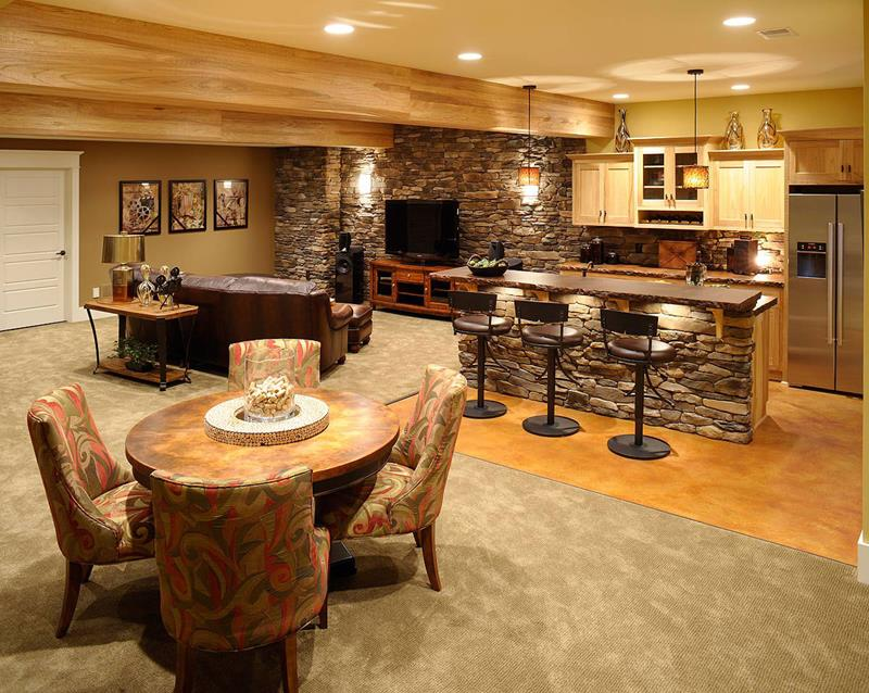 21 Finished Basements For Having Fun-16