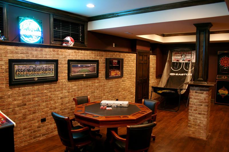 21 Finished Basements For Having Fun-6