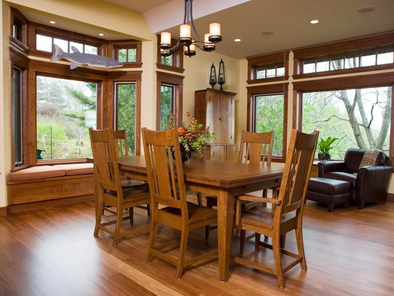 22 Amazing Craftsman Dining Room Designs-3