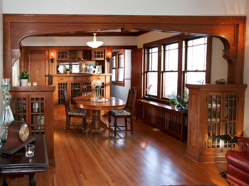 22 Amazing Craftsman Dining Room Designs-4
