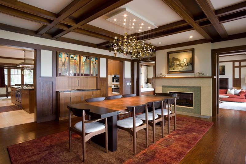 22 Amazing Craftsman Dining Room Designs-5