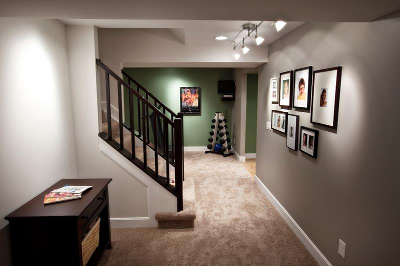 22 Finished Basement Contemporary Design Ideas-10