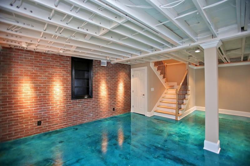 22 Finished Basement Contemporary Design Ideas-11