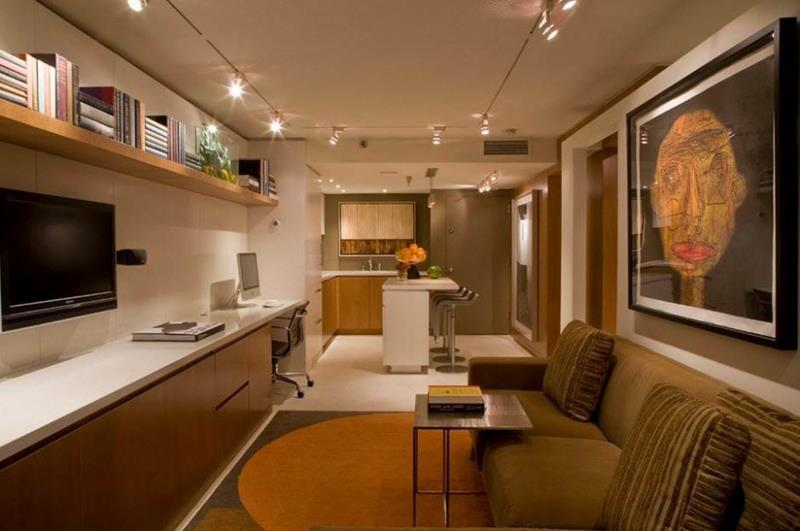 22 Finished Basement Contemporary Design Ideas-15
