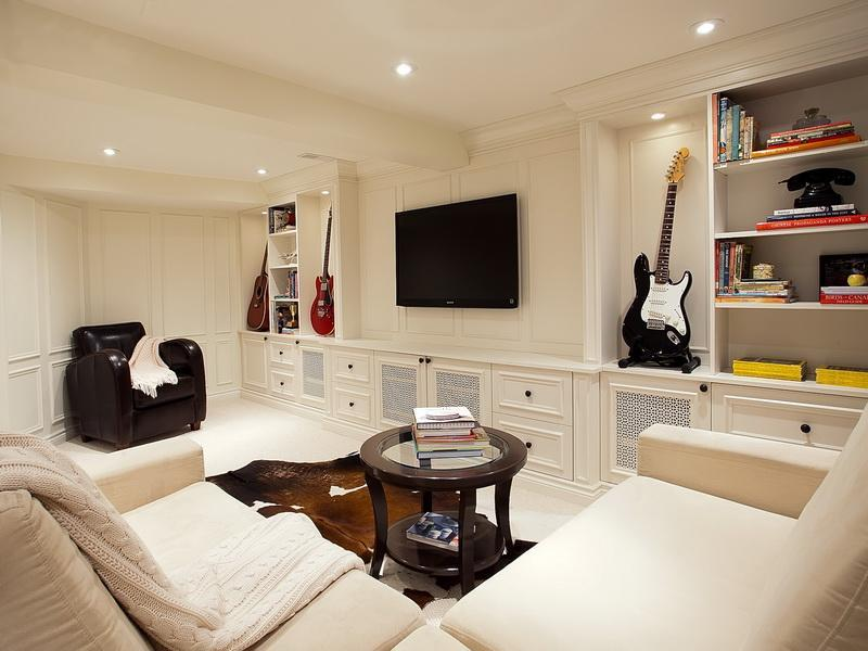 22 Finished Basement Contemporary Design Ideas-20