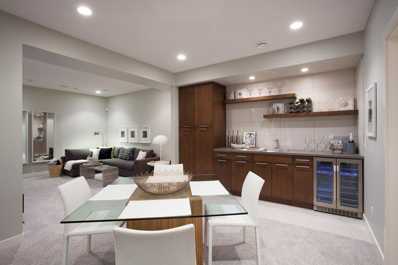 22 Finished Basement Contemporary Design Ideas-21