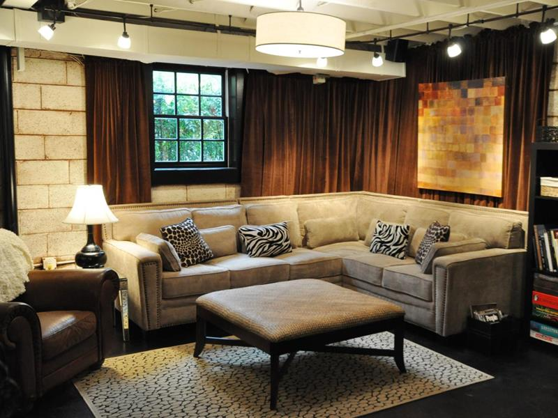 22 Finished Basement Contemporary Design Ideas-22