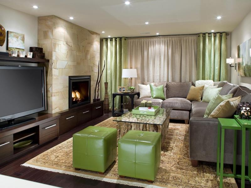 22 Finished Basement Contemporary Design Ideas-6