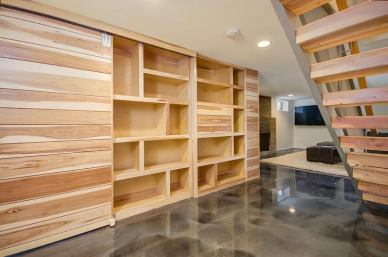 22 Finished Basement Contemporary Design Ideas-8