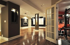 22 Finished Basement Contemporary Design Ideas