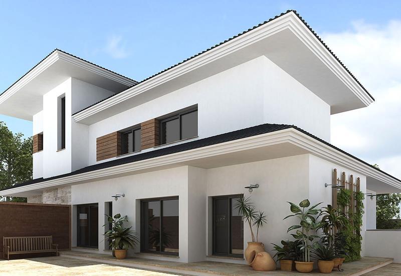 22 Pristine White Home Exteriors-13