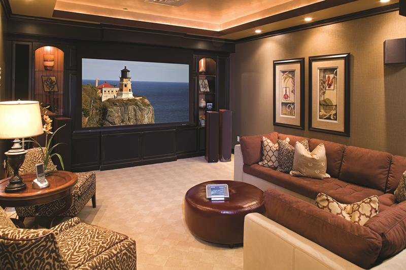 23 Amazing Finished Basement Theaters for Movie Time-11