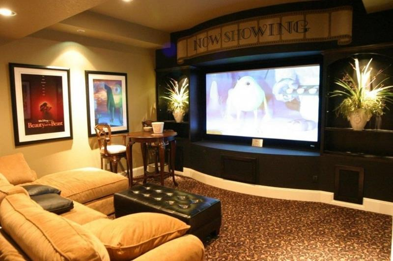 23 Amazing Finished Basement Theaters for Movie Time-12
