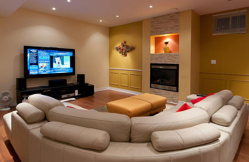 23 Amazing Finished Basement Theaters for Movie Time-13