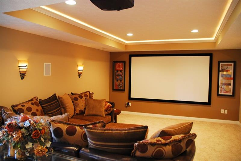 23 Amazing Finished Basement Theaters for Movie Time-18