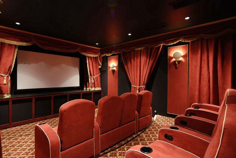 23 Amazing Finished Basement Theaters for Movie Time-19