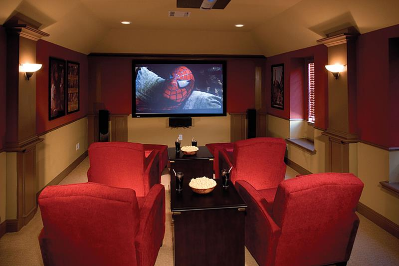 23 Amazing Finished Basement Theaters for Movie Time-3