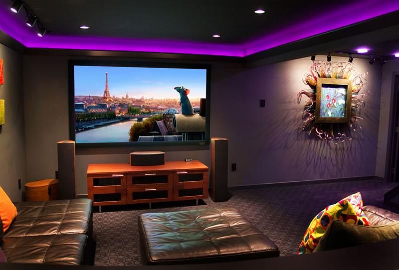 23 Amazing Finished Basement Theaters for Movie Time-6