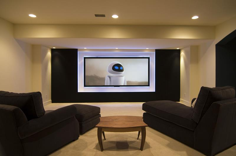 23 Amazing Finished Basement Theaters for Movie Time-8