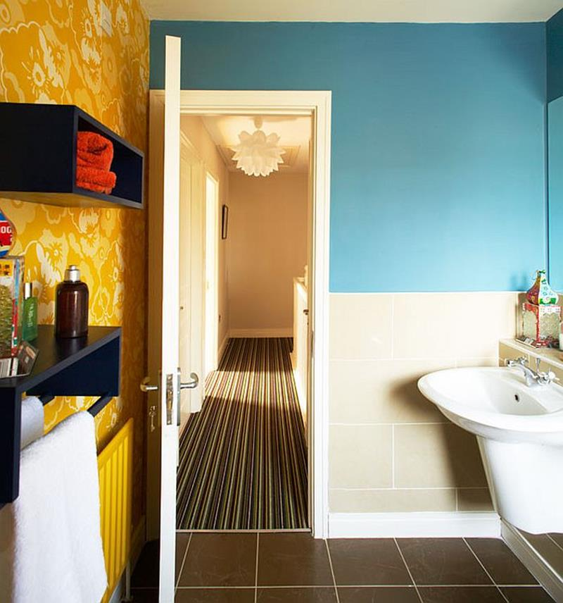 23 Charming And Colorful Bathroom Designs