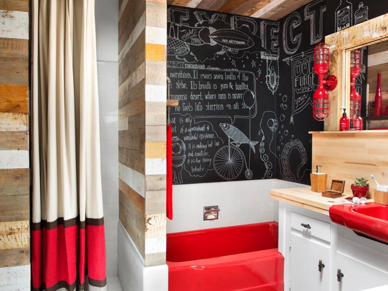 23 Charming and Colorful Bathroom Designs-15