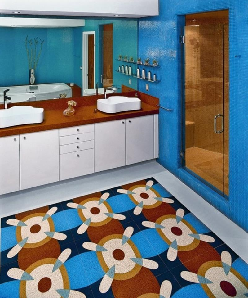 23 Charming and Colorful Bathroom Designs-21