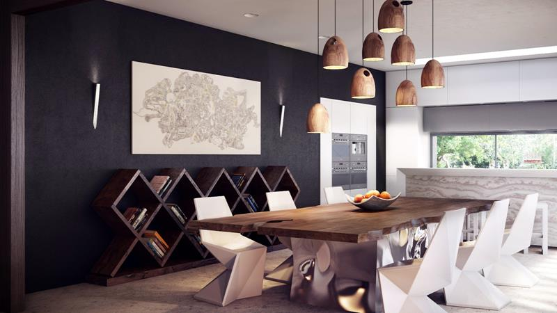 23 Sleek Contemporary Dining Room Designs-8