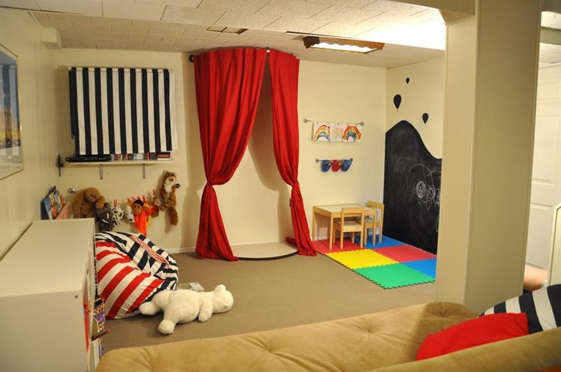 24 Child Friendly Finished Basement Designs-19