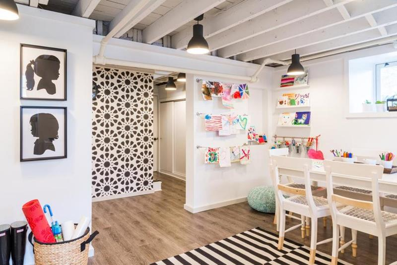 24 Child Friendly Finished Basement Designs-9