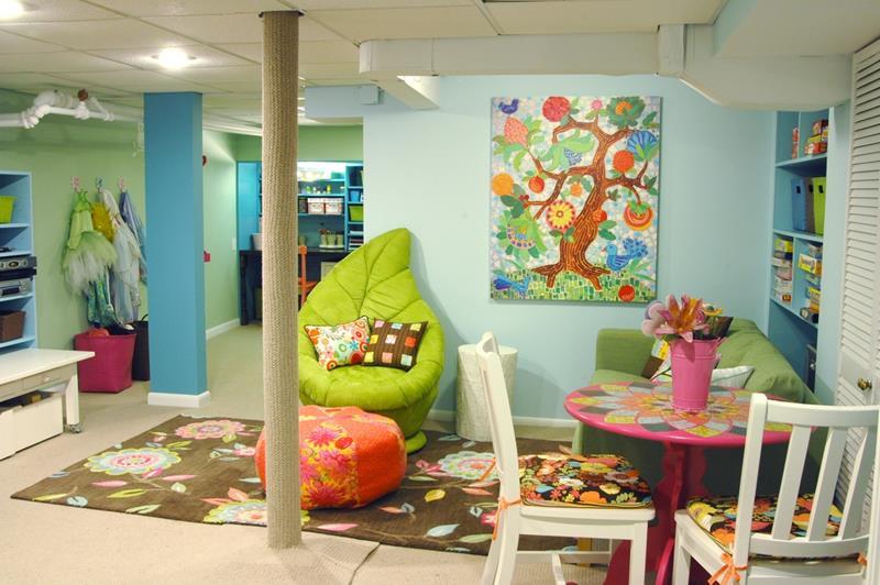 24 Child Friendly Finished Basement Designs-title