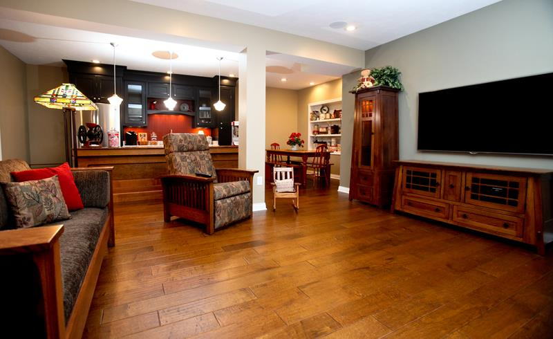 24 Finished Basements With Beautiful Hardwood Floors-12