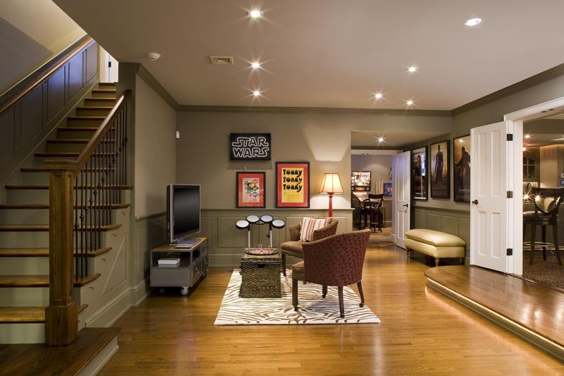 24 Finished Basements With Beautiful Hardwood Floors-2