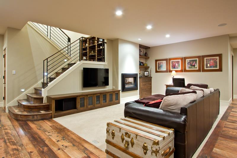 24 Finished Basements With Beautiful Hardwood Floors-4