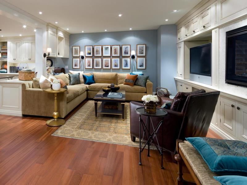 24 Finished Basements With Beautiful Hardwood Floors-9