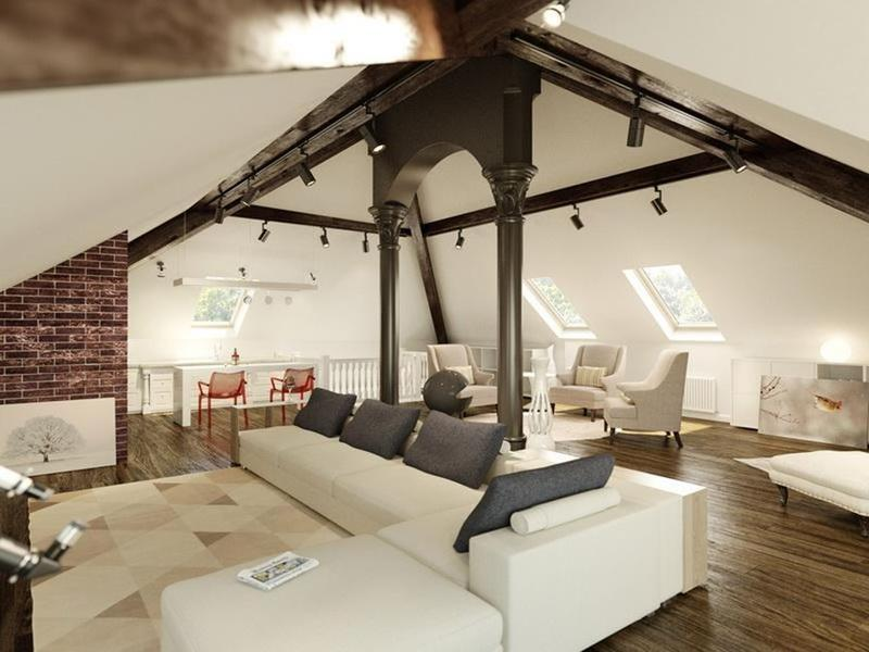 26 Amazing and Inspirational Finished Attic Designs-16
