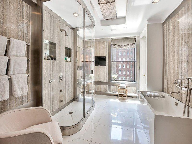 26 Beautiful Wood Master Bathroom Designs-10