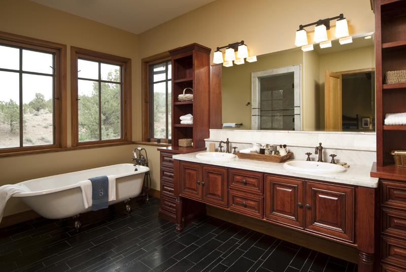 26 Beautiful Wood Master Bathroom Designs-15