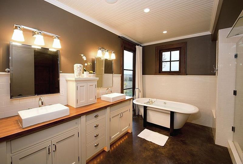 26 Beautiful Wood Master Bathroom Designs-21