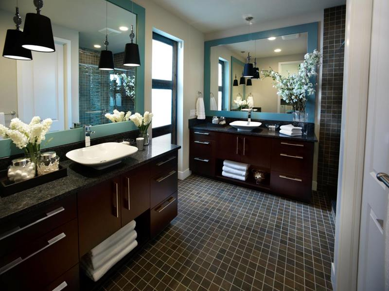 26 Beautiful Wood Master Bathroom Designs-4