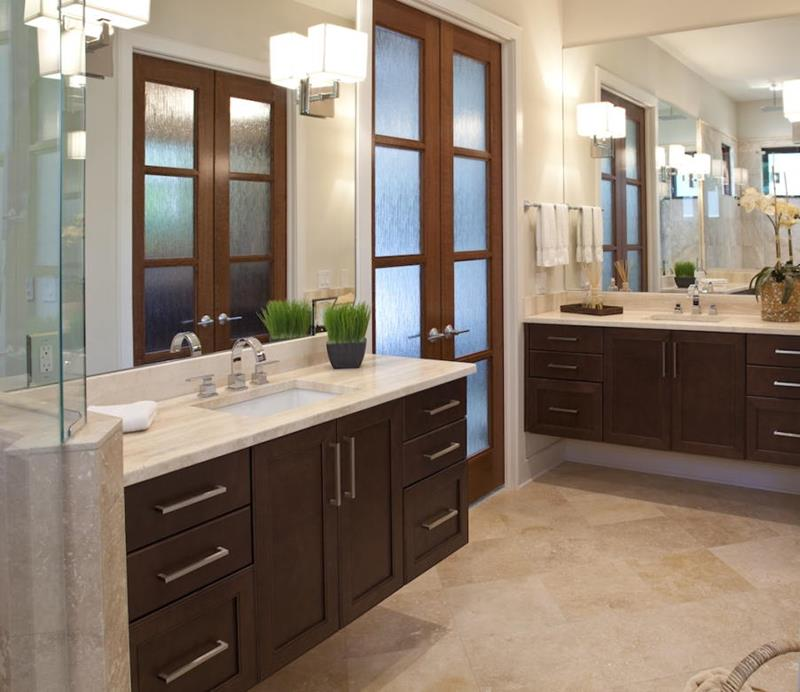 26 Beautiful Wood Master Bathroom Designs-5