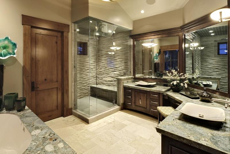 26 Beautiful Wood Master Bathroom Designs-6