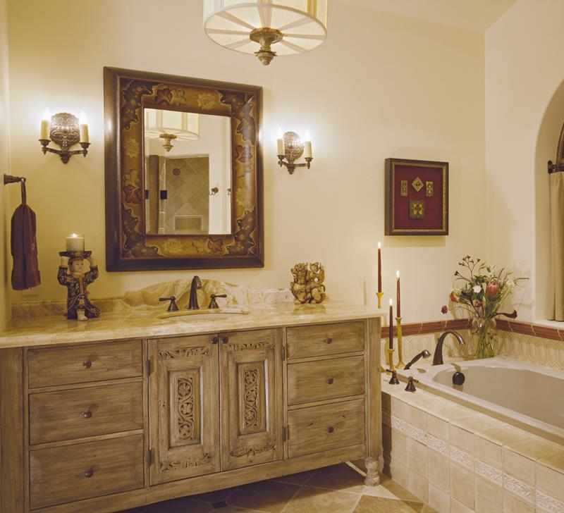 26 Beautiful Wood Master Bathroom Designs-8