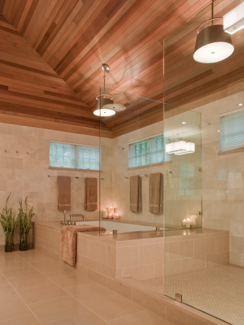 26 Beautiful Wood Master Bathroom Designs-9