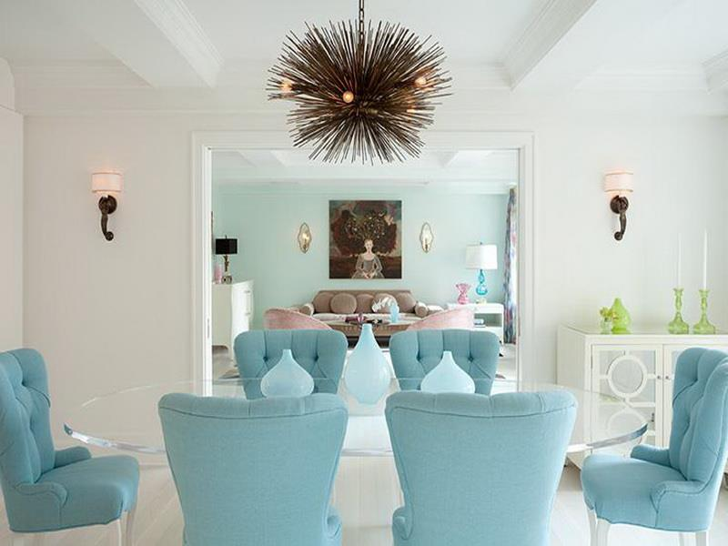 26 Beautiful and Bright Dining Room Designs-17